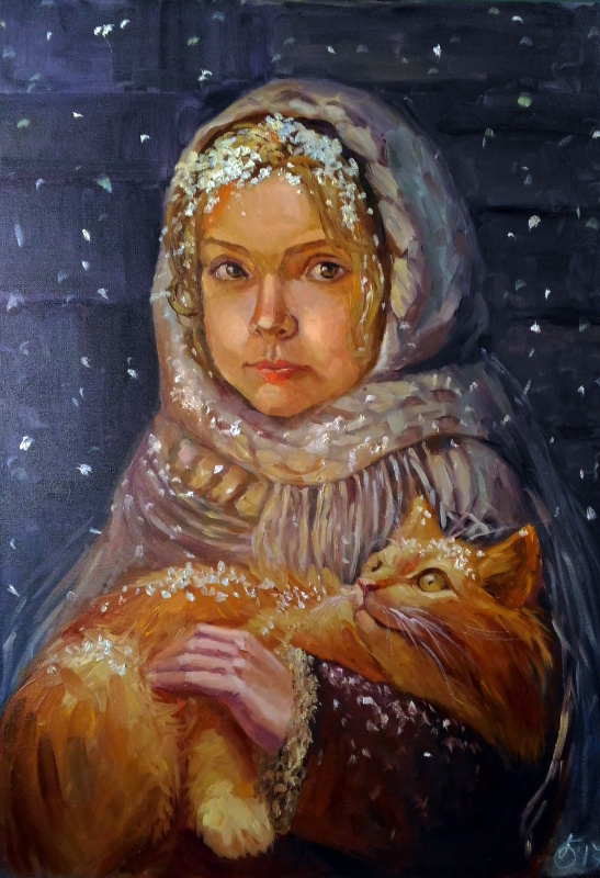 Svetlana Belova. Девочка и кот