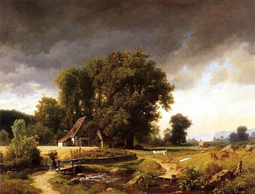 Альберт Бирштадт. Вестфальский пейзаж