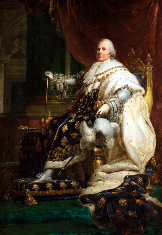 Франсуа Паскаль Симон Жерар. Людовик XVIII в коронационном одеянии
