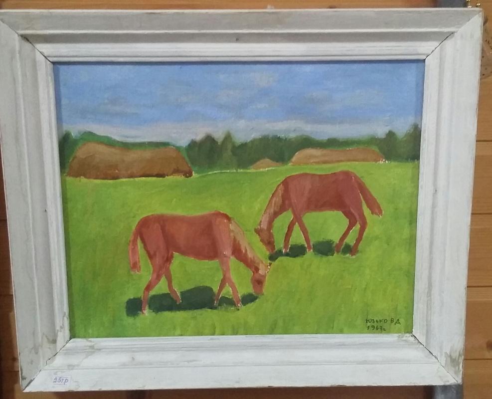 Vasily Dmitrievich Yuzko. On grazing