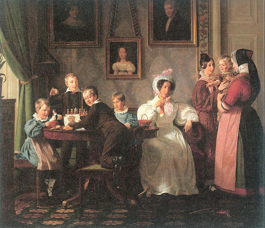 Nikolai Wilhelm Marstrand. Family