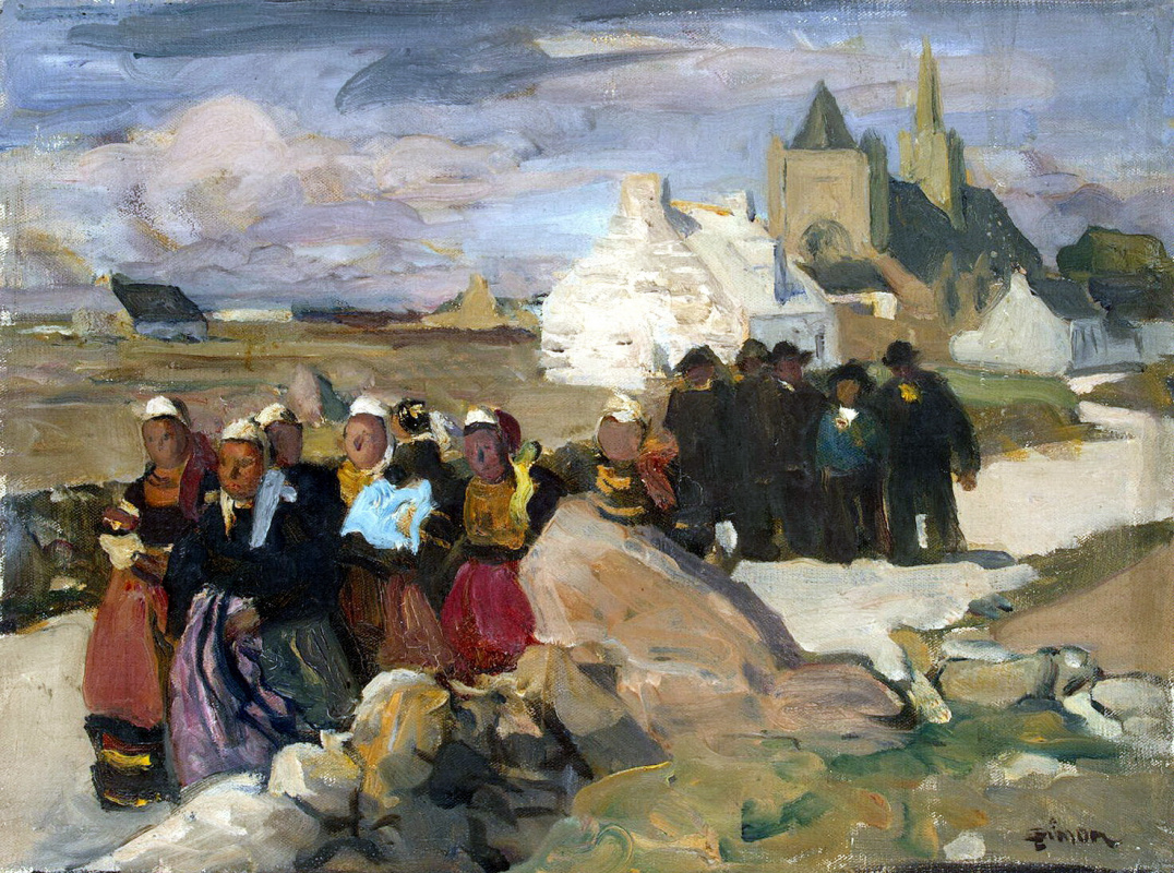 Lucien Simon. A Breton and Bretons
