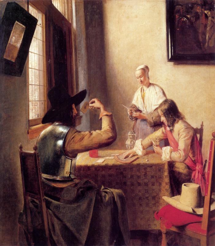 Питер де Хох. Солдаты играют в карты