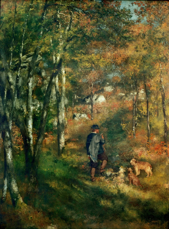 Pierre-Auguste Renoir. Artist Jules le Coeur in the Forest of Fontainebleau