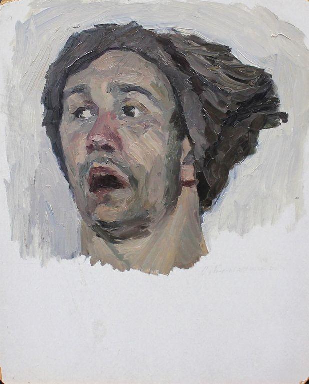 Orest Georgievich Betekhtin. Sketch of the head