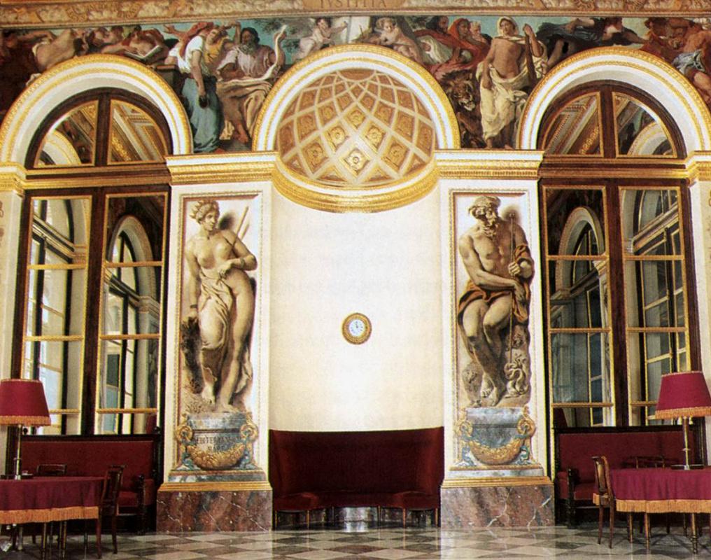 Эжен Делакруа. Дворец Бурбон, салон короля. Отделка западной стены