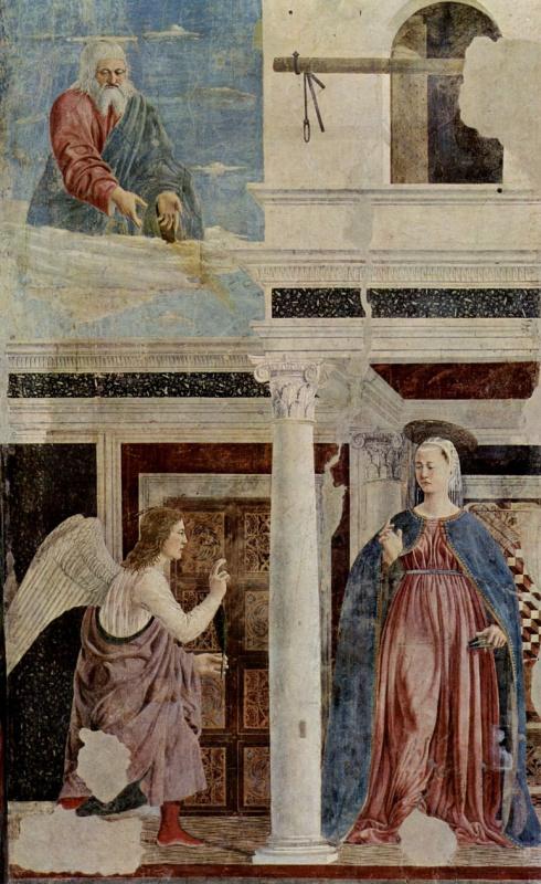 Пьеро делла Франческа. Благовещение
