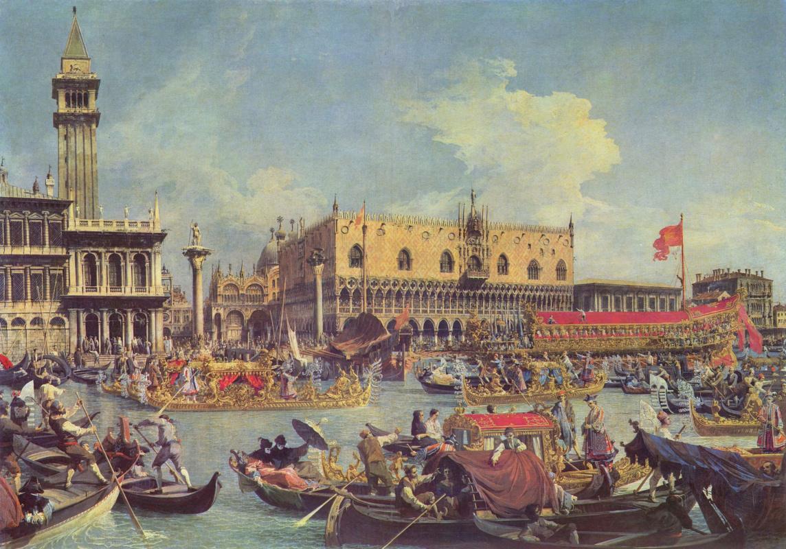 Джованни Антонио Каналь (Каналетто). Возвращение Бучинторо к молу у дворца Дожей