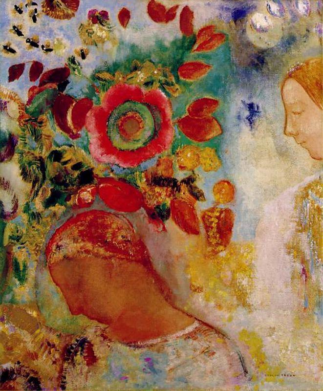 Одилон Редон. Красные цветы