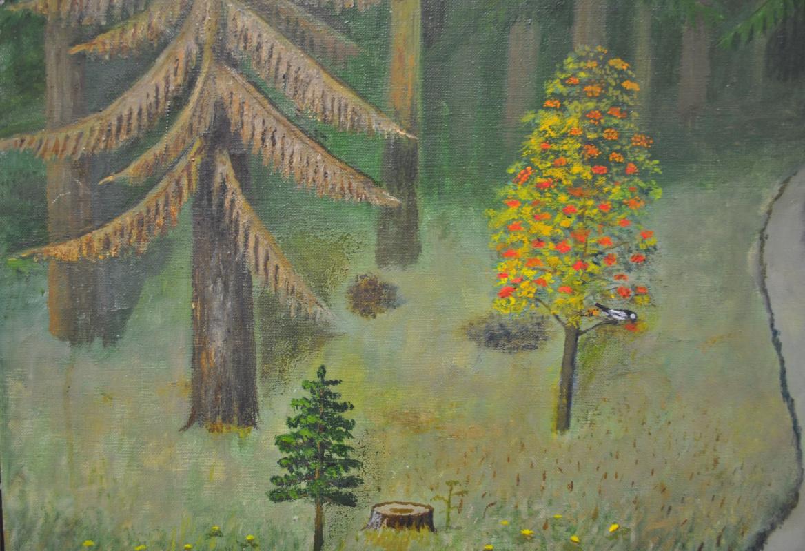 Alexander Vasilyevich Suvorov. Golden autumn. Fragment