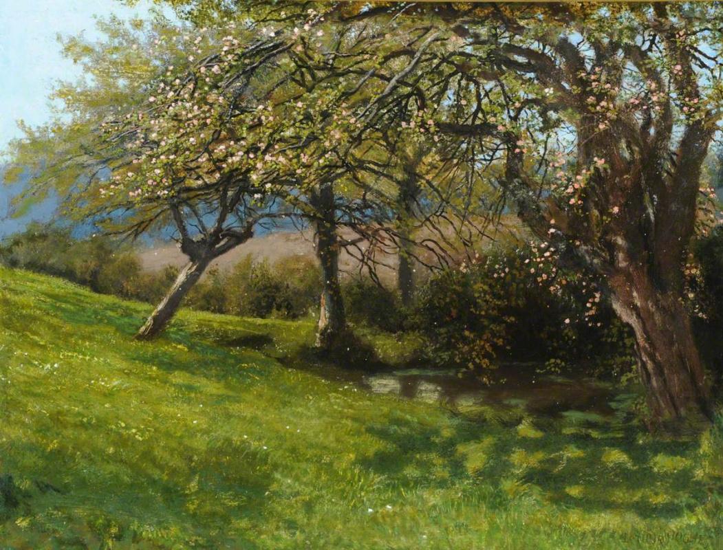 Arthur Hughes. Bargfield Spring Garden