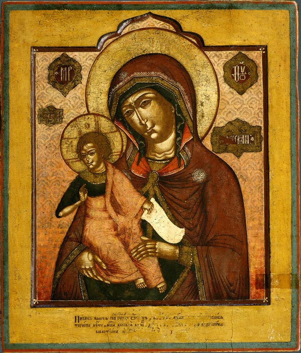 Icon Painting. Our Lady of Egypt (Nevyansk)