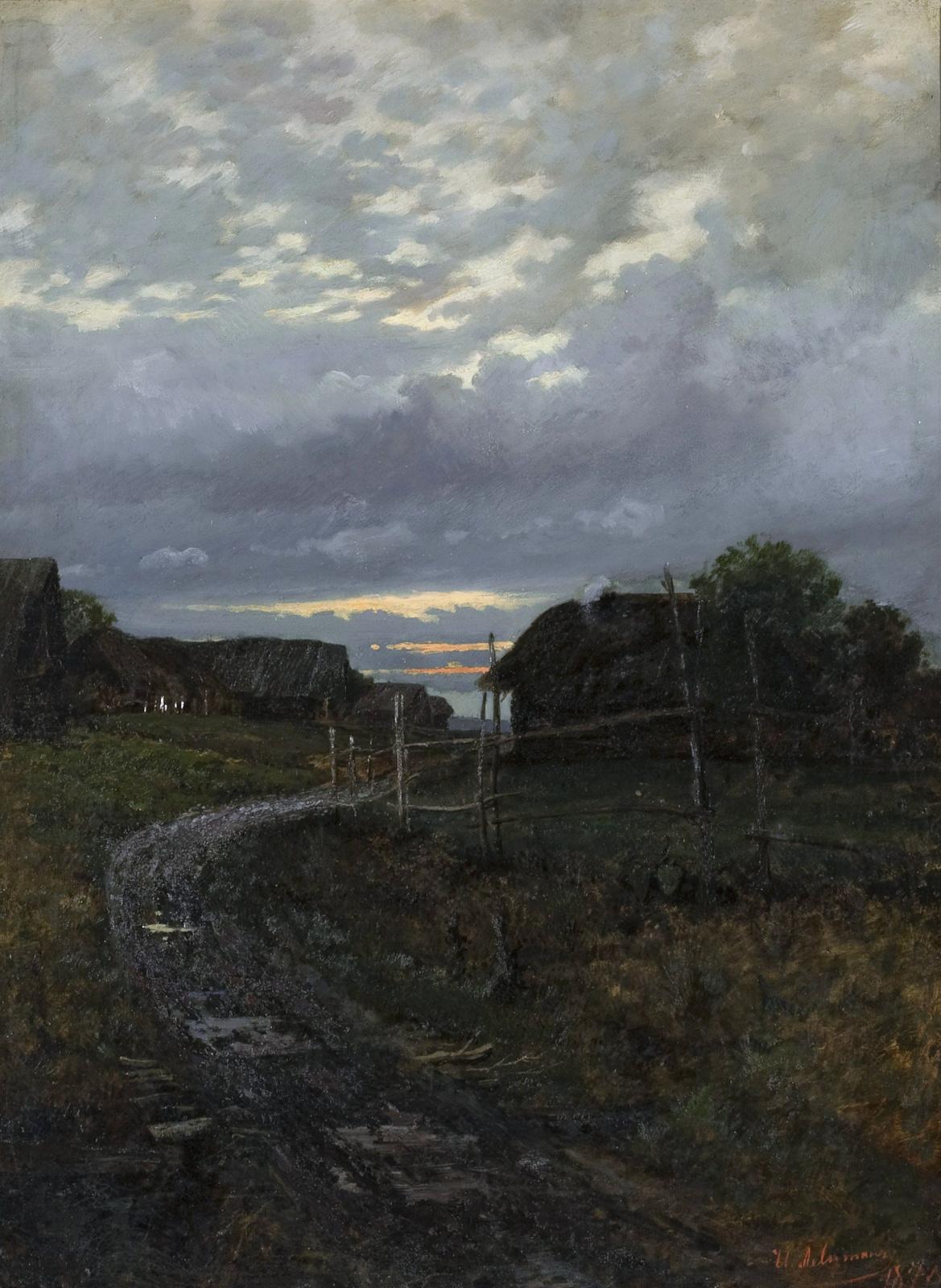 Исаак Ильич Левитан. Вечер