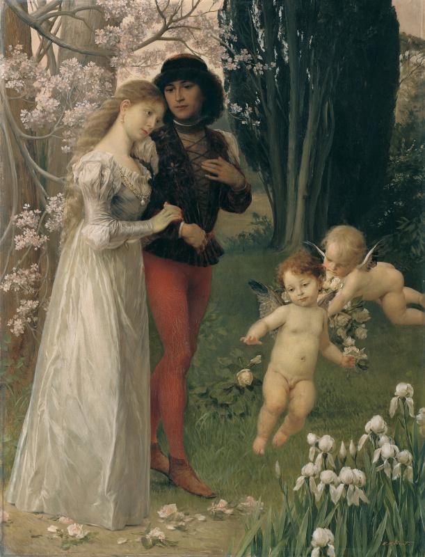 Ernst Klimt. Francesca da Rimini and Paolo