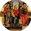 Мадонна с младенцем в окружении ангелов, Святой Розы и Святой Екатерины