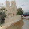 Нотр-Дам де Пари. Notre-Dame de Paris. 60/60 cm. 2016. For sale.