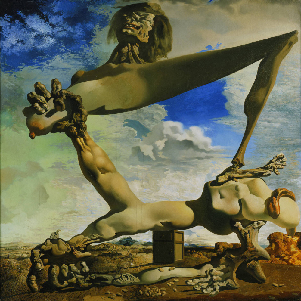 Salvador Dali. Soft construction with boiled beans. Premonition of civil war