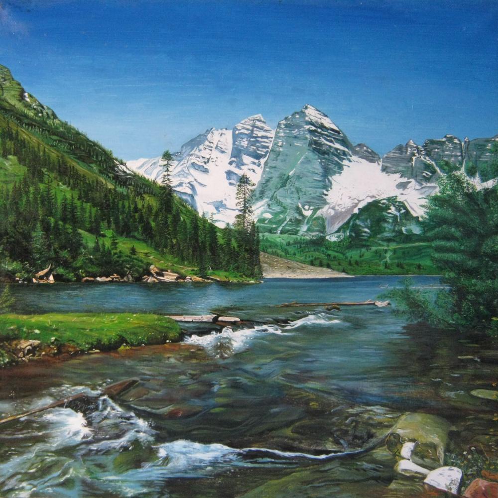 Vera Volkova. Mountain river.