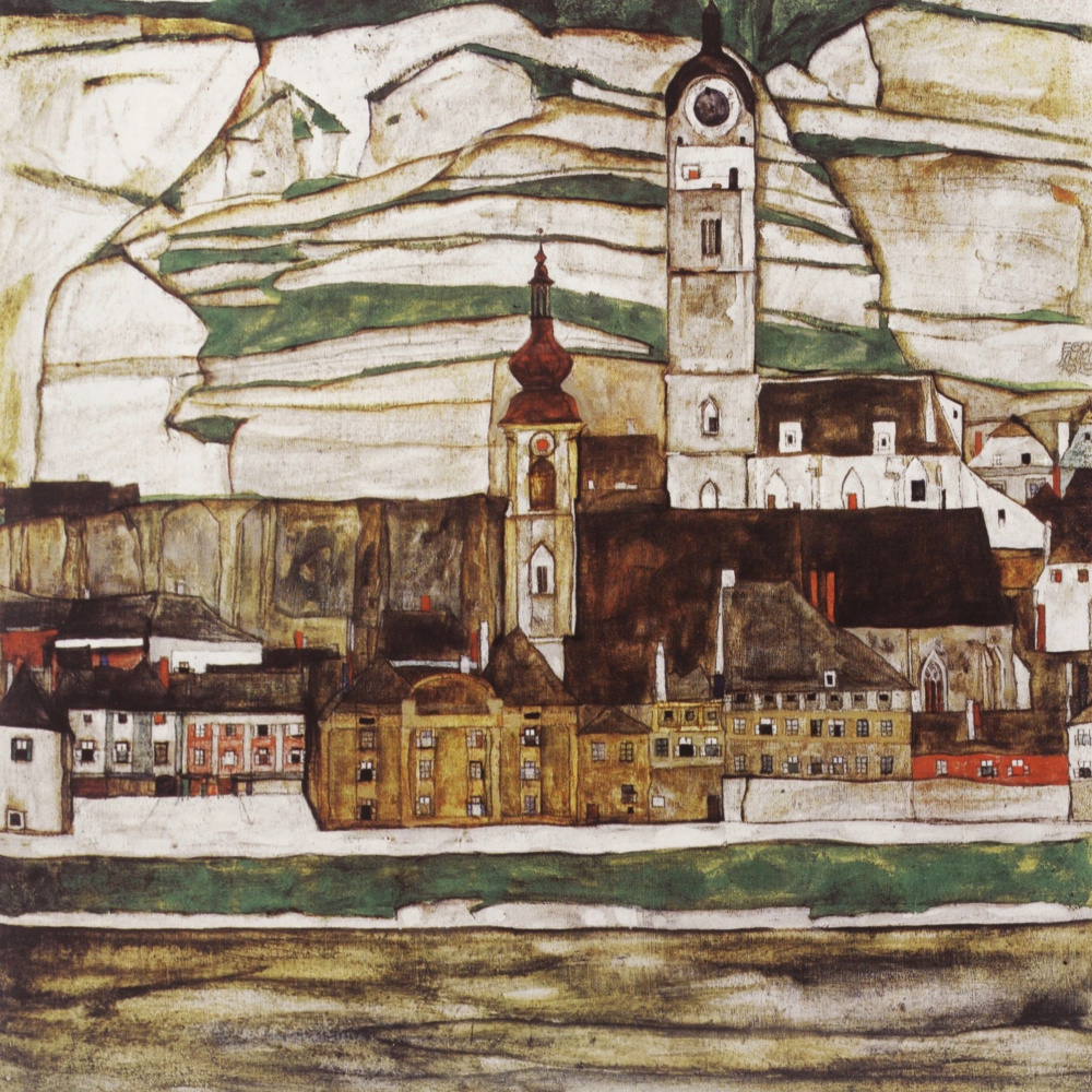 Egon Schiele. The Stein on the Danube II