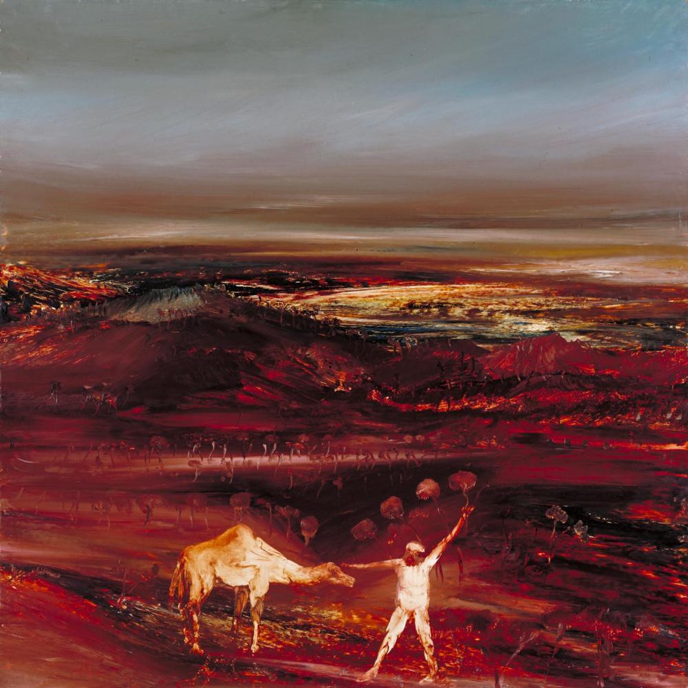Sydney Nolan. Camel landscape