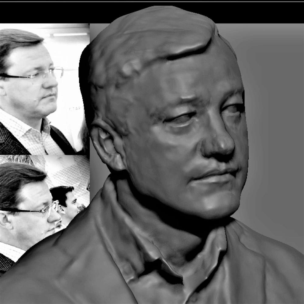 Constantin Preis. Portrait of Dmitry Azarov