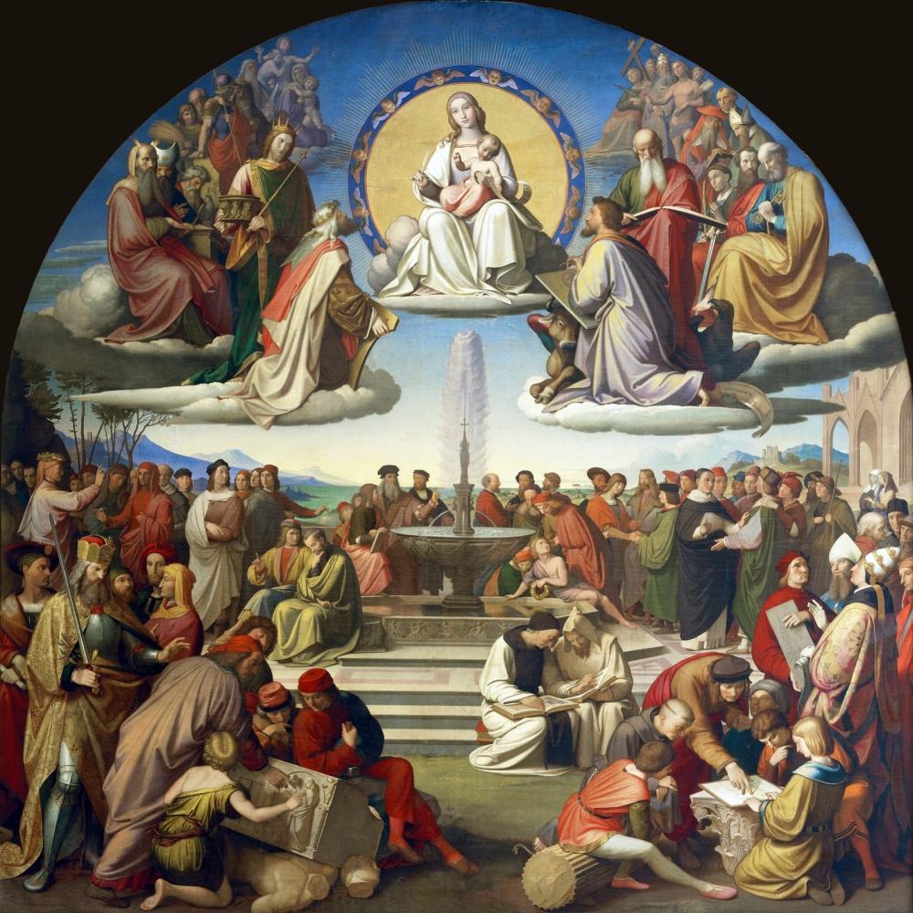 Johann Friedrich Overbeck. The triumph of religion in art