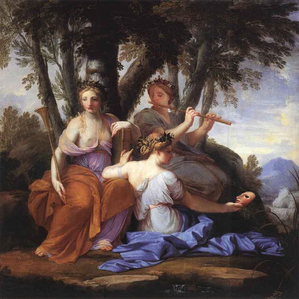 Le Sauer Eustache. Muses Euterpe and Thalia