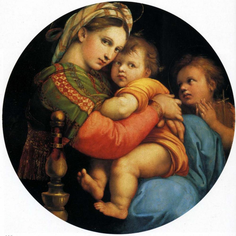 Рафаэль Санти. Мадонна в кресле (Мадонна делла Седиа)
