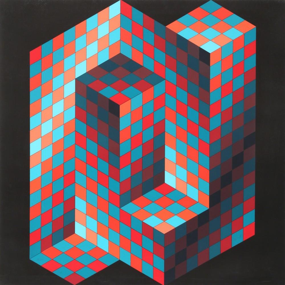 Victor Vasarely. Gestalt 4