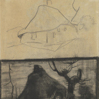 Винсент Ван Гог. Два эскиза коттеджа