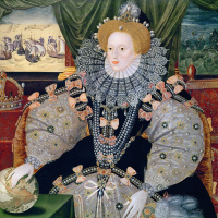 "Portrait of Queen Elizabeth I ""the Invincible Armada"""