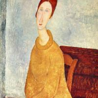 Амедео Модильяни. Портрет Жанны Эбутерн в желтом пуловере