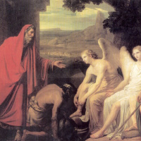 The phenomenon of Abraham three angels at the oak of Mamre