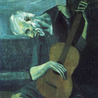 Pablo Picasso. The old guitarist