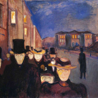 Evening on the street of Karl John