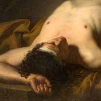 Lying naked. The thumbnail image of the body of Hector, fragment