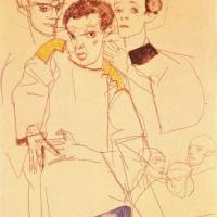 Эгон Шиле. Тройной автопортрет