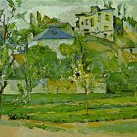 Поль Сезанн. Фруктовый сад в Понтуазе