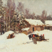 Константин Алексеевич Коровин. Зимний пейзаж