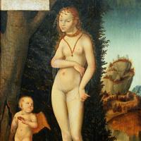 Lucas Cranes the Elder. Venus and Cupid stealing honeycomb