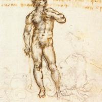 "Sketch Of ""David"" By Michelangelo"