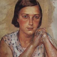 Кузьма Сергеевич Петров-Водкин. Портрет дочери художника