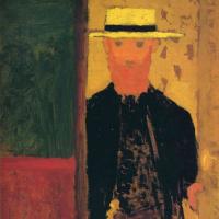 Автопортрет с тростью и в шляпе