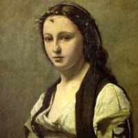 Камиль Коро. Женщина с жемчужиной (Портрет Берты Гольдшмидт)