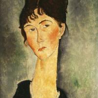 Амедео Модильяни. Портрет женщины с кулоном