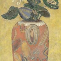 Одилон Редон. Зеленое растение в вазе