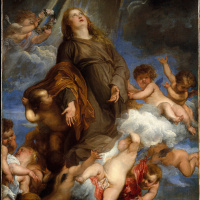 Anthony van Dyck. Saint Rosalia stands up for the plague-stricken of Palermo