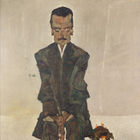 Egon Schiele. Portrait Of Edward Kosmach