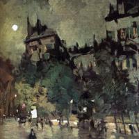 Константин Алексеевич Коровин. Париж после дождя