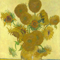 Sunflowers (Vase with fifteen sunflowers)